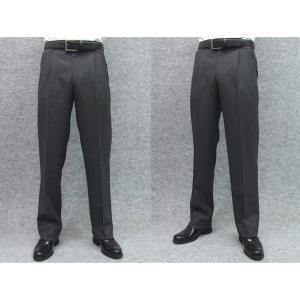 スラックス クールビズ 尾州産 スーツ生地  2タック ビジネスパンツ グレー バーズアイ ウォッシャブル W76〜105cm|dxksm466