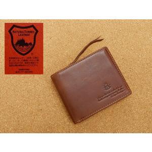 栃木レザー&迷彩 牛革 二つ折り財布 茶系 カモフラージュ TCG202-BR|dxksm466