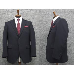 秋冬物 2パンツ付 シングル2釦ベーシックスーツ 濃紺/無地  [BB体] メンズスーツ TDH7004-2P|dxksm466