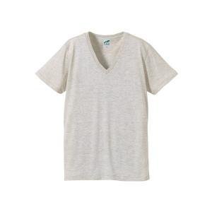 United Athle 3枚組 インナーシャツ V首Tシャツ グレー系 Tri-Blend UA1098-01GY|dxksm466