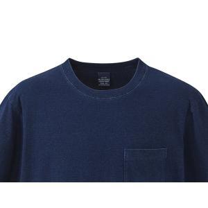 United Athle クルーネックTシャツ 半袖 ダークインディゴ 胸ポケット 丸首Tシャツ 綿100% UA3991-01DA|dxksm466