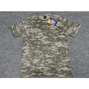 アウターシャツ 丸首Tシャツ グレーデジタル迷彩 UA65890-01ACU|dxksm466