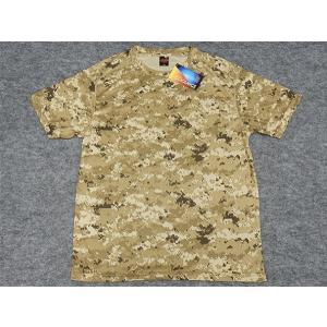 アウターシャツ 丸首Tシャツ カーキデジタル迷彩 UA65890-01DST|dxksm466