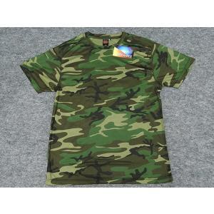 アウターシャツ 丸首Tシャツ 緑迷彩 UA65890-01WL|dxksm466