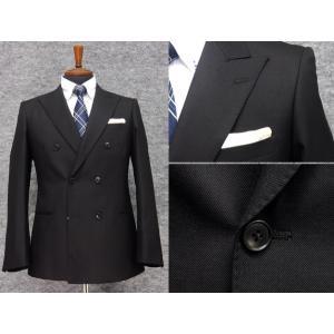 ダブルスーツ 黒 スタイリッシュ6ボタン×2掛 ブラックスーツ|dxksm466