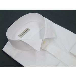 ◆礼装◆高級比翼ウィングシャツ◇白◇◆慶事◆モーニング用シャツ◆ディレクターズスーツ用ダブルカフス|dxksm466