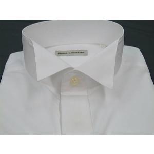 ◆礼装◆高級比翼ウィングシャツ(略式)◇白◇◆慶事◆モーニング用シャツ◆ディレクターズスーツ用シングルカフス|dxksm466