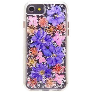 iPhone8 7 6s 6 ケース カバー 耐衝撃 Case-Mate Karat Petals - Purple|dyn