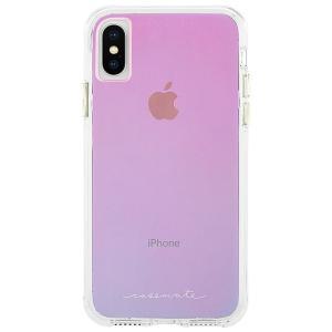 iPhoneXS ケース iPhoneX ケース 光の加減 色が変化 個性的 Tough-Iridescent Case-Mate ケースメート 耐衝撃性抜群|dyn
