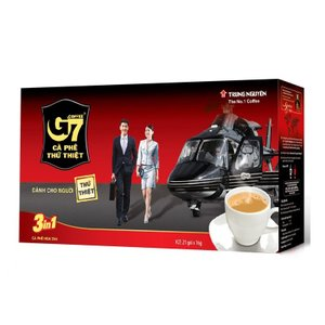 インスタントコーヒー ベトナムコーヒー G7 3 in 1(コーヒー ミルク 砂糖入り) カフェオレ風 甘党 お土産 チュングエン (Trung Nguyen) 21袋入り×24セット 合|dyn