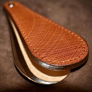 本革 NAGASAWA TOKYO イタリアンオイルレザー 靴ベラ シューホーン 長沢ベルト|dyn