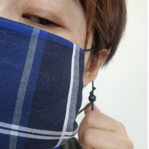 ハンカチマスク用長さが調節できる紐8セット 黒|dyn