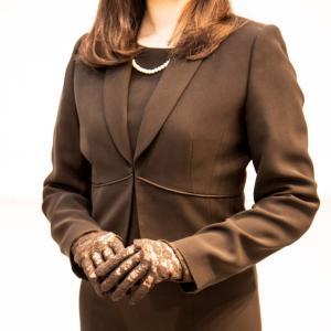 葬儀 ネイル つけ爪 手袋 ノノフローヴ|dyn