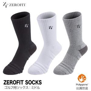 ゴルフ ソックス メンズ レディース 靴下 イオンスポーツ ゼロフィットソックス ミドルカット ゆうパケット対応|dyna-golf