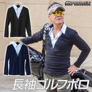 ゴルフウェア 冬 メンズ ポロシャツ 長袖 おしゃれ|dyna-golf