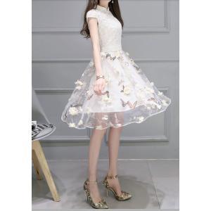 花柄ドレス パーティー 結婚式 お呼ばれ かわいいワンピース|dynamic-sun
