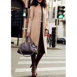 aラインコート 大人 女性コート スーツ 膝丈|dynamic-sun