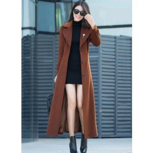 かっこいい コート ロング レディ 黒 ブラック ビジネス|dynamic-sun