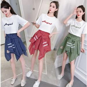 セットアップ スカート ワンピース チェック柄 赤 青 緑|dynamic-sun