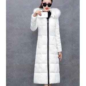 ダウンコート ホワイト 白 フード付き ピンク 黒 アウター|dynamic-sun