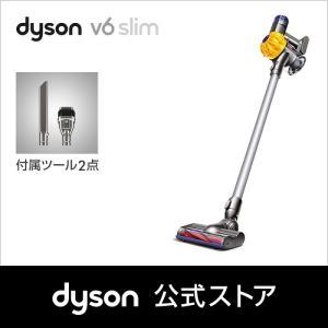 ダイソン Dyson V6 Slim サイクロン式 コードレス掃除機 SV07ENT2 ナチュラル/アイロン/イエロー|dyson