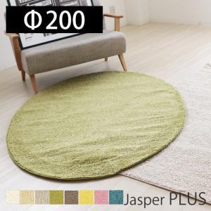 ラグ カーペット 絨毯 ウイルス対策 抗ウイルス 抗菌 消臭 防ダニ 日本製 手洗い可 床暖房対応 シンプル 丸 円形 200R 人気 プレーベル ジャスパープラス|e-alamode-ys