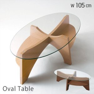 テーブル おしゃれ ガラステーブル リビングテーブル ローテーブル センターテーブル オーバル 楕円形 デザイン 新生活|e-alamode-ys