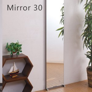 ミラー 鏡 突っ張りミラー幅30cm|e-alamode-ys