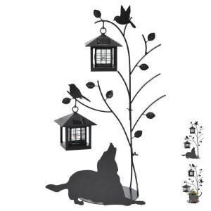 ソーラーライト 屋外 おしゃれ 庭 オーナメント 犬 猫 鳥 ガーデンライト シルエットソーラー 外灯 DIY セトクラフト プレゼント 新生活 e-alamode-ys