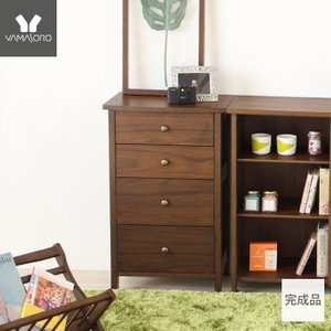 チェスト 4段 木製 整理棚 完成品 リビング収納 ブラウン ロージー 新生活|e-alamode-ys