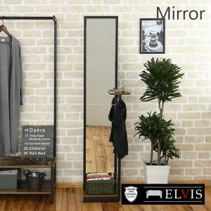 スタンドミラー 全身 収納 アンティーク 姿見 鏡 全身鏡 5mm厚|e-alamode-ys