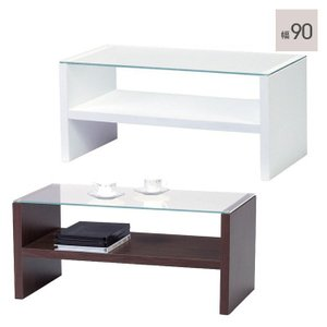 センターテーブル テーブル ガラス天板 (コーヒーテーブル)|e-alamode