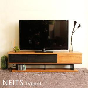テレビ台 NEITS ブラックガラス 木製 木 ローボード テレビボード 160cm 日本製 ダークグレーガラス|e-alamode