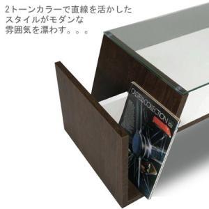 センターテーブル ガラステーブル カフェテーブル (モカ)|e-alamode|02
