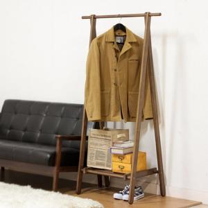 ハンガーラック 木製 激安 75幅 コート掛け 洋服掛け 収納 おしゃれ アーク|e-alamode