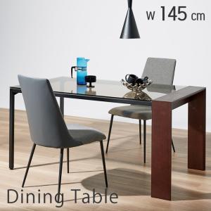 ダイニングテーブル テーブル単品 マキッシュT 145cm 145幅 ダイニング ガラステーブル 食卓 木製 北欧|e-alamode