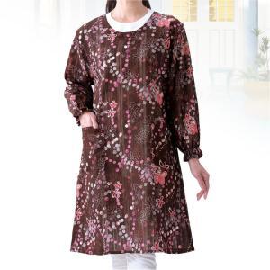 エステルドビープリントロングドレス e-apron