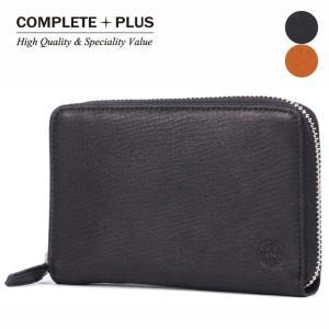 メンズ 二つ折り財布 ミディアム ラウンドファスナー 姫路レザー 牛革 本革 COMPLETE PLUS コンプリートプラス ソフトレザー 927-cp-7e104|e-bag-morita