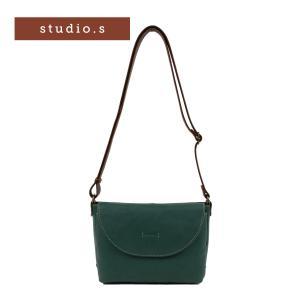 Studio・s Olea スタディオ・S オレア レディース ショルダーバッグ 姫路 レザー 国産 オリーブレザー グリーン (934-ss-6al113) e-bag-morita
