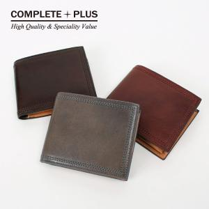 メンズ 財布 二つ折り財布 本革 牛革 レザー COMPLETE PLUS コンプリートプラス Natty ナーティ 952-cp-7bg103 父の日ギフト|e-bag-morita