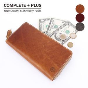 メンズ ラウンドファスナー長財布 牛革 本革 アンティークレザー COMPLETE PLUS コンプリートプラス 952-cp-9bg201|e-bag-morita