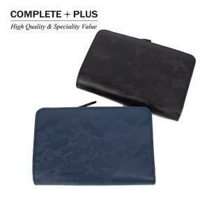 メンズ 二つ折り財布 ミディアム 迷彩柄型押し 牛革 本革 レザー COMPLETE PLUS コンプリートプラス 953-cp-8f103|e-bag-morita