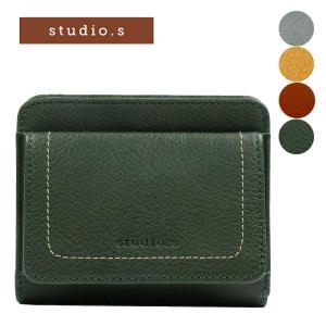 レディース 二つ折り財布 本革 牛革 レザー BOX型小銭入れ STUDIO・S スタディオ・S デポジット 953-ss-8f06 e-bag-morita