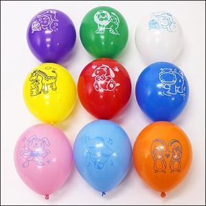 天然ゴム風船 まんが柄(100ヶ) 40cmパイプ棒付 / バルーン|e-balloon