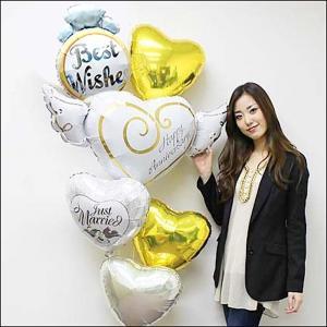 結婚祝い ウエディングバルーンギフト ハッピーアニバーサリー|e-balloon