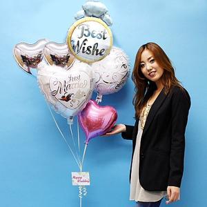 結婚祝い ウエディングバルーンギフト ローズ&バタフライ|e-balloon