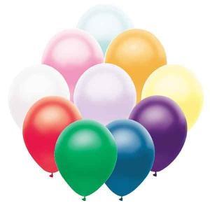 天然ゴム風船 パールカラー(100ヶ) 21cm棒付 / バルーン|e-balloon