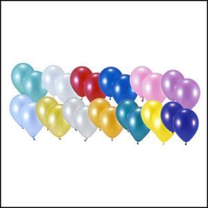 天然ゴム風船 パールカラー(100ヶ) 40cmパイプ棒付 / バルーン|e-balloon