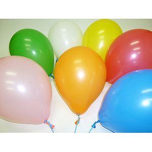 天然ゴム風船 無地カラー(100ヶ) 21cm棒付 / バルーン|e-balloon