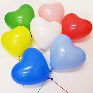 天然ゴム風船 ハート型風船(100ヶ) 21cm棒付【バルーン】|e-balloon